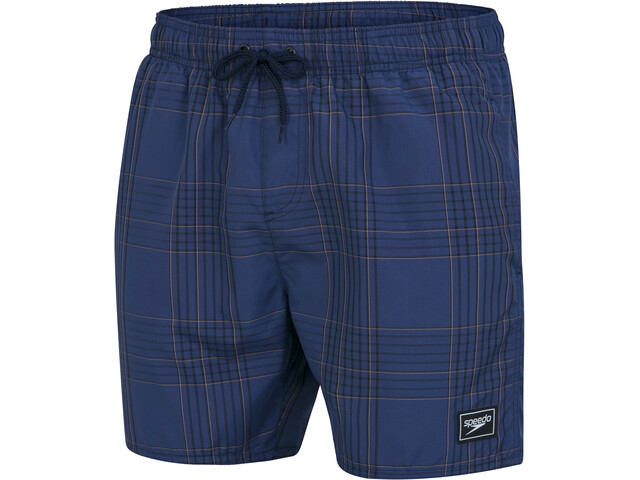 "speedo Check Leisure 16"" Wassershorts Herren navy/black/dragonfire orange"